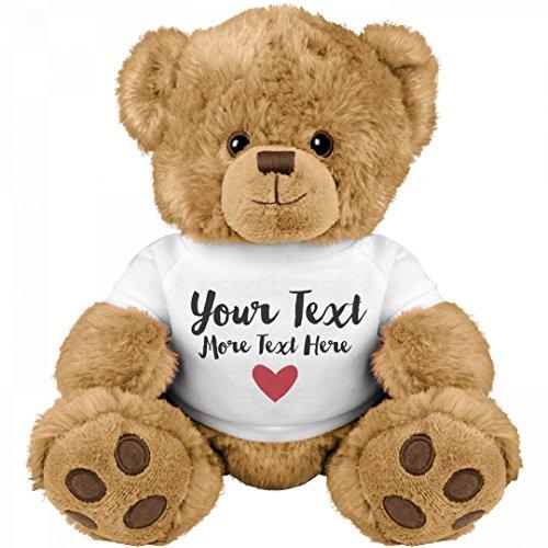 Romantic Custom Teddy Bear Gift: Medium Teddy Bear Stuffed - Customize Your Gift