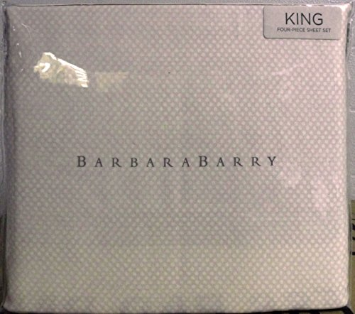 Barbara Barry Four Piece Sheet Set, King, Beige w White Polka Dot - Barry Pillowcase