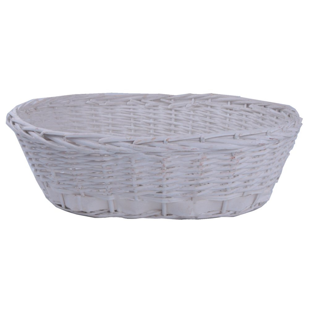 AiXiAng Newborn Baby Photo Props Basket Infant Photography Prop White Handmade Oval Basket for Baby Photography