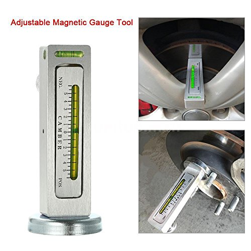 FidgetFidget Truck Car Magnetic Gauge Tool Camber Castor Strut Wheel Alignment Kit (Camber Steering)
