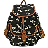 Your Gallery Cute Kawaii Swallow Animal Print Canvas Backpack Rucksack Travel School College Bag