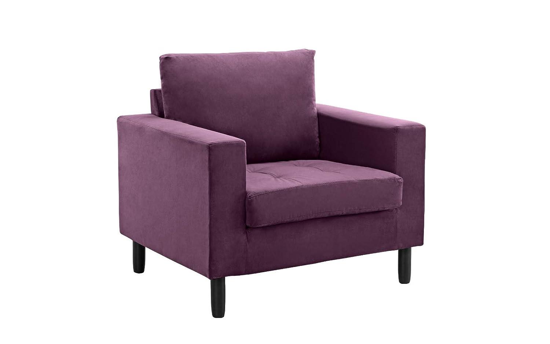 Amazon.com: Mediados de siglo moderno tela terciopelo sillón ...