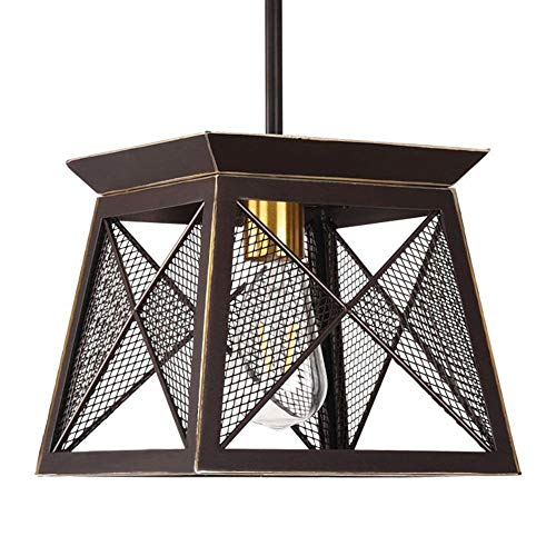 Industrial Style Antique Bronze Chandeliers Iron mesh Metal Pendant Lighting 1 Light ()