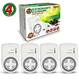 Repel-It Ultrasonic Pest Repeller Plug In, Dual-Technology Pest Control (5,000 sq ft) For Mice, Rats, Cockroaches, Spiders, Ants & Insects. (4 Pack - Full House Coverage)