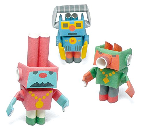 PIPEROID Lyric & Hook & Track Paper Craft Robot kit from Japan - Hip Hop Trio -