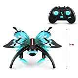 Remote-Controlled Butterfly-shaped UAV Unmanned Aerial Vehicle,Altitude Hold 3D Roll One Key Return Drone, with WIFI FPV Camera Mini RC Drone RC Aircraft Gift For Kids & Adults