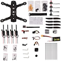 YKS DIY 250 Racing Quadcopter Full Carbon Fiber Frame Kit ARF with Camera