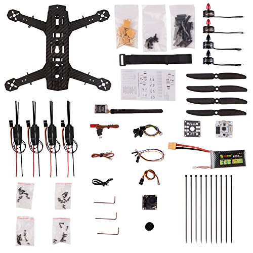 YKS DIY 250 Racing-Quadcopter Drone Kit with Camera