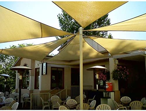 Super*Depot Toldo Triangular para jardín o Patio, Color Beige, 30, 48 x 30, 48 x 30, 48 cm, Bloque UV para Exteriores: Amazon.es: Jardín
