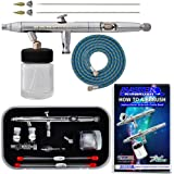 Master Airbrush S622-SET Master S62 All-Purpose Precision Dual-Action Siphon Feed Airbrush Pro Set with 3 Nozzle Sets