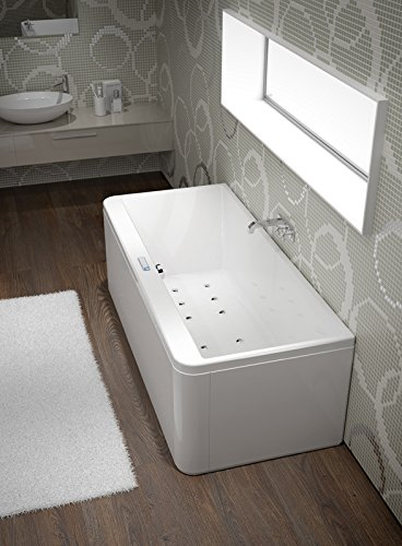 grandform bañera hidromasaje Slim Edge 180 x 80 cm Digital Plus – Fit form – Control Digital