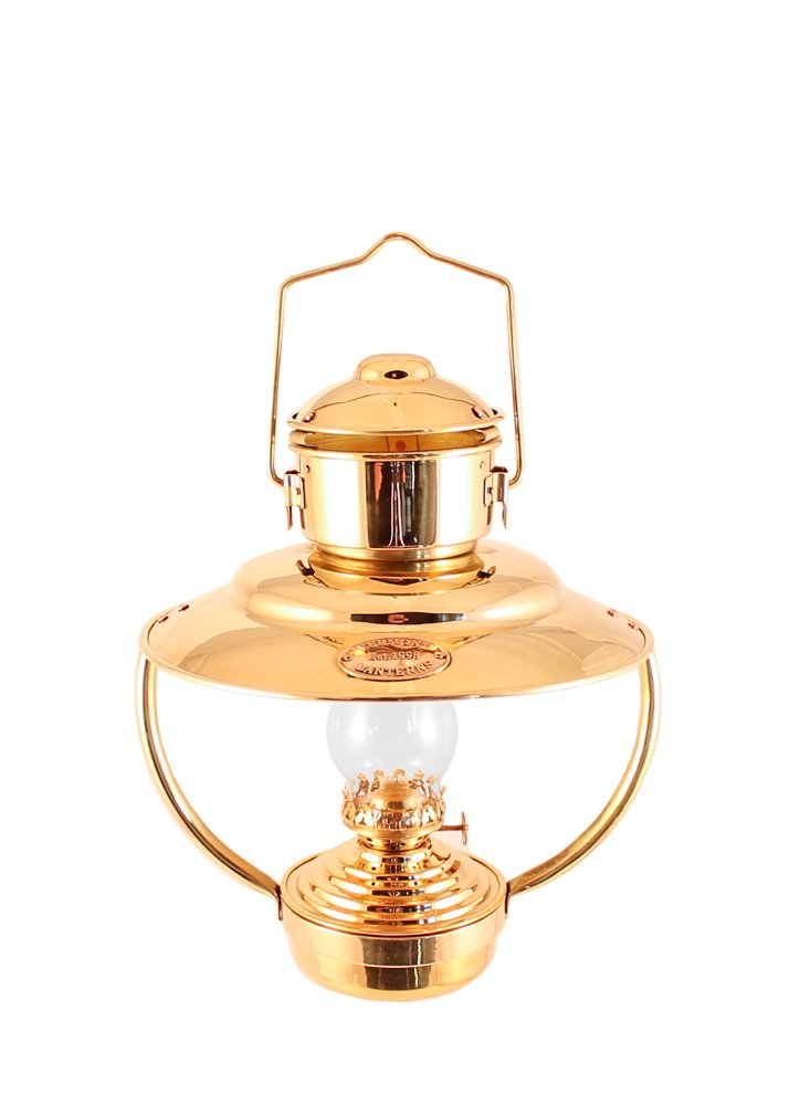 Vermont Lanterns - Brass Trawler Nautical Hanging Oil Lamp 10'' (Brass)