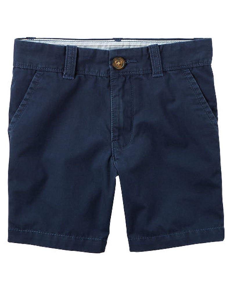 6-Kids Navy Carters Little Boys Uniform Flat-Front Shorts