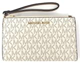 Michael Kors Jet Set Travel double Zip Wristlet (Vanilla 2018)