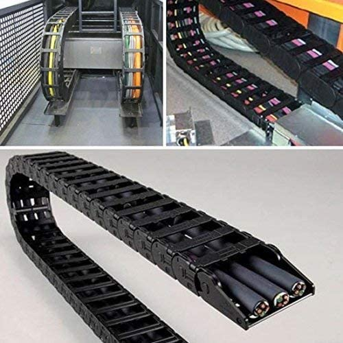 Cable Carrier Drag Chain Semi Enclosed Type Plastic Towline Machine Tool Nested 10 x 15mm