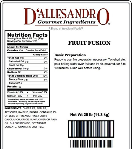 Fruit Fusion - 25 Lb Bag Each by Woodland Ingredients (Image #2)