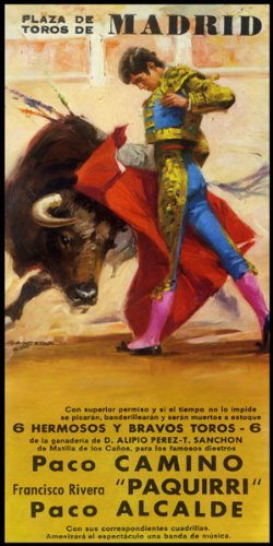 Bullfighting - Plaza De Toros De Madrid #3 Canvas Art Poster 12