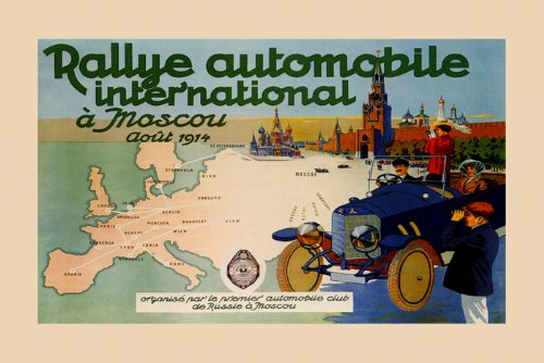 International Rally Car Race Grand Prix Russia Moscow 1914 12