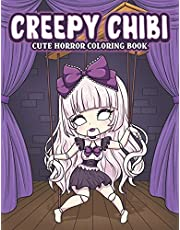 Creepy Chibi Cute Horror Coloring Book: Spooky Coloring Pages with Kawaii Horror Characters