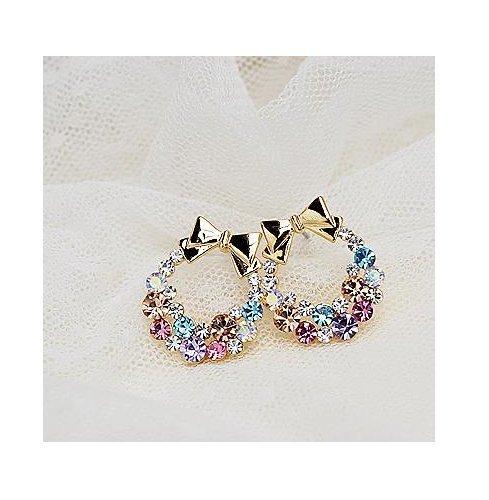 new-fashion-pendientes-earrings-imitation-rhinestone-colorful-rhinestone-bow-vintage-stud-earrings-j