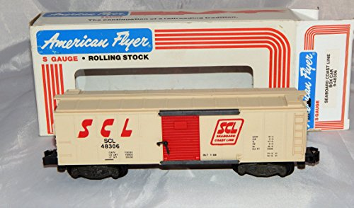 American Flyer 6-48306 Seaboard Coast Line SCL Boxcar S Gauge Knuckle couplers