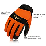 Vgo 3Pairs Work Glove, High Dexterity Synthetic
