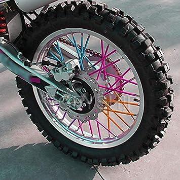 Purple 72pcs Wheel Rim Spoke Skin Covers For Motocross Dit Bike Enduro Off Load Kawasaki For Honda Suzuki For BMW CRF XR YZF DR WR XL