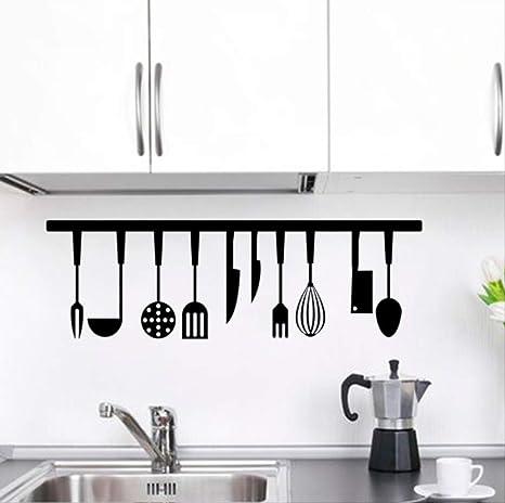 hzcl324 Effect Küche Werkzeug Restaurant Wand Aufkleber Dekoration ...