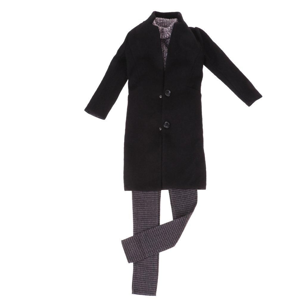 Baoblaze Pantaloni Maglione Soprabito Indumenti Moda Casuale Per Doll Normale
