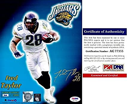 reputable site f0a72 77dbb Fred Taylor Signed Photo - Jags Limited 8x10 inch ...