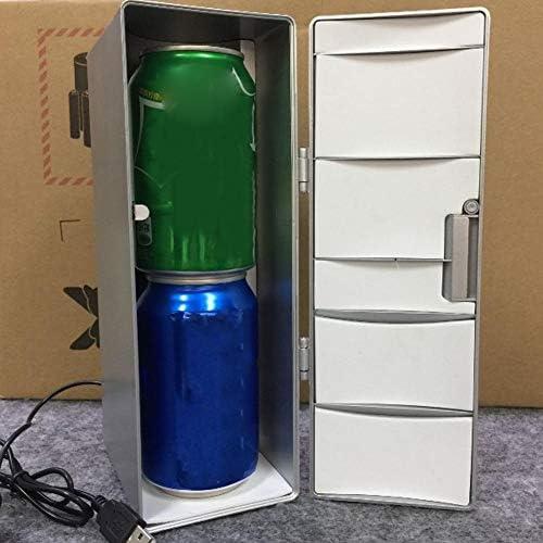 Hopcd Mini USB Cooler & Warmer, Lattine Portatili Birra Bevande Coke Fridge, Bevande all'aperto Scaldabagno/Refrigeratore Congelatore Frigorifero per Home Office Car Boat