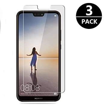 Modoca [3-Pack Protector Pantalla Huawei P20 Lite, Cristal Templado P20 Lite [Cobertura Máxima] Protector Vidrio Templado para Huawei P20 Lite: Amazon.es: ...