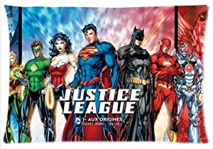 """Accurate Store fictional superhero team Justice League Zippered Pillow case Covers Standard Size 20""""x30 by kobestar"""