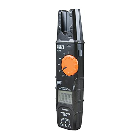 Klein Tools CL360 Open Jaw Fork Non-Contact Voltage Meter with TRMS Technology, Includes A Case, Test Leads and 2 x AAA Batteries