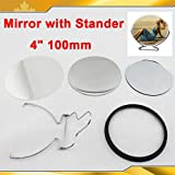 4'' 100mm 100sets Mirror with Stander Supply for Maker Machine DIY 015790