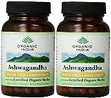 Organic India Ashwagandha - 90 Vegetarian Capsules