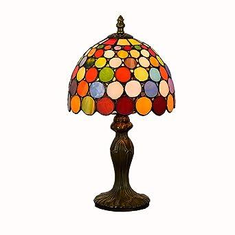Lámpara de escritorio de mesa de vidrio de estilo Tiffany ...