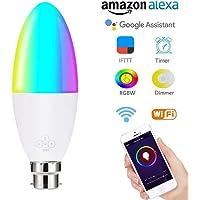 CRYSNERY Bombilla de luz LED Inteligente, Control