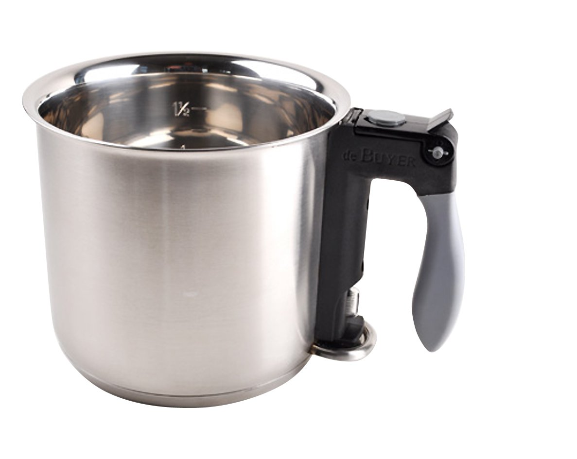 DOUBLE BOILER ''Bain Marie'' with Silicone Handle, O 6.25-Inch, Capacity 1.6pt by De Buyer