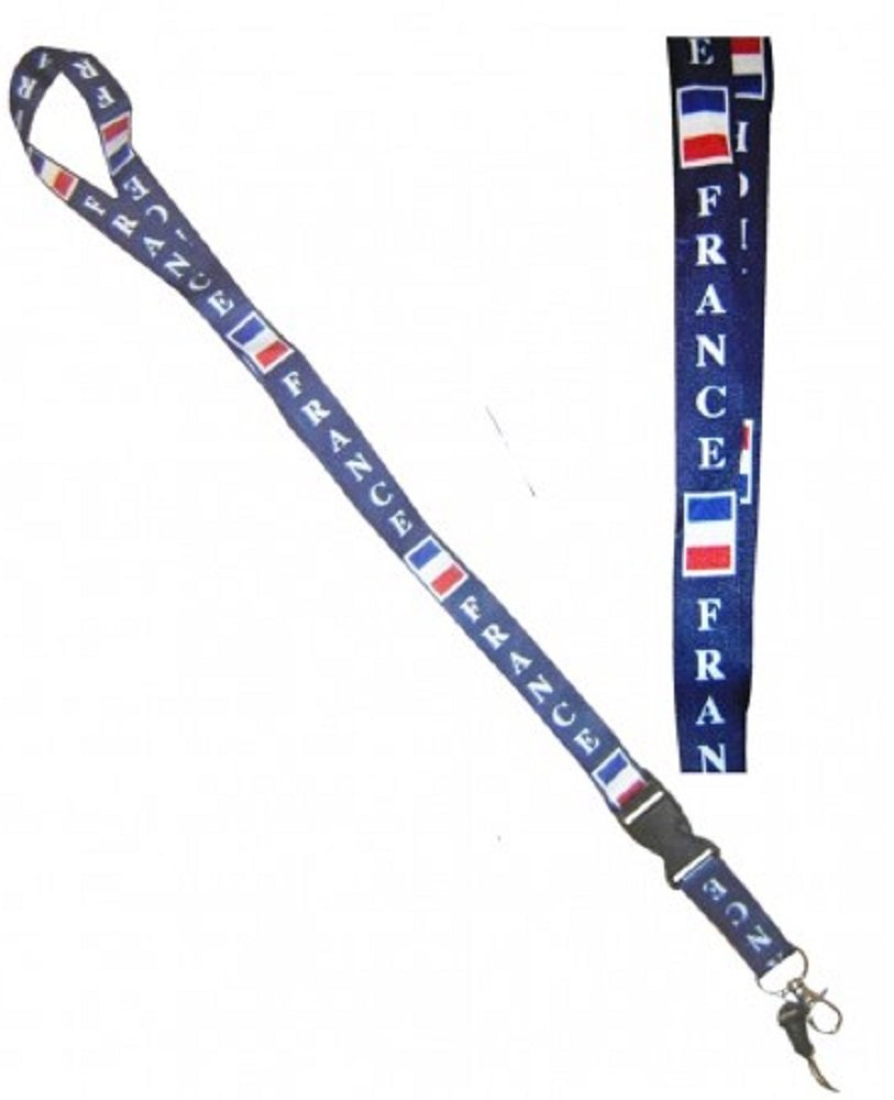 1 TOUR DE COU FRANCE 50 CM SUPPORTER FOOT PORTE CARTE