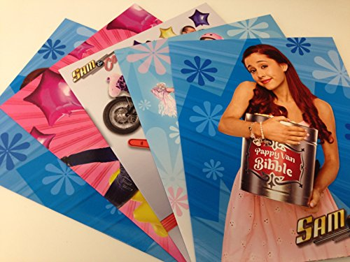 Set of 5 - Nickelodeon Sam & Cat Portfolio Folders 11.5 in X 9.75 In - Pappy Van