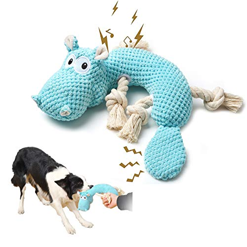 Dog Toys for Aggressive Chewers, Tough and Durable Squeaky Toys Pet Pupp Animals Toy with Cotton Material and Crinkle…
