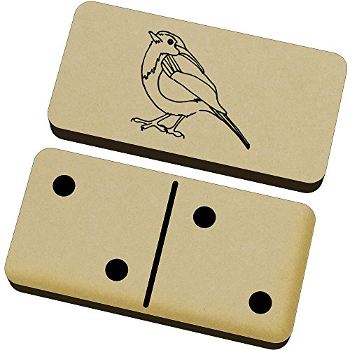 Azeeda 'Robin Redbreast Bird' Domino Set & Box (DM00012609)