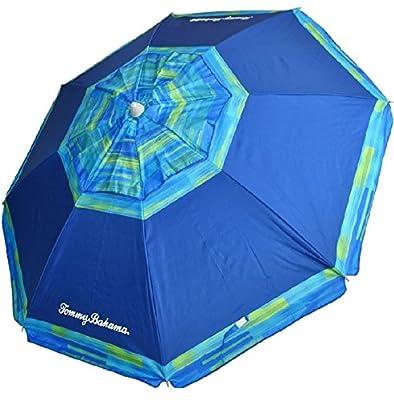 Tommy Bahama 7ft. Vented Fiberglass Beach Umbrella w/ built in Sand Anchor