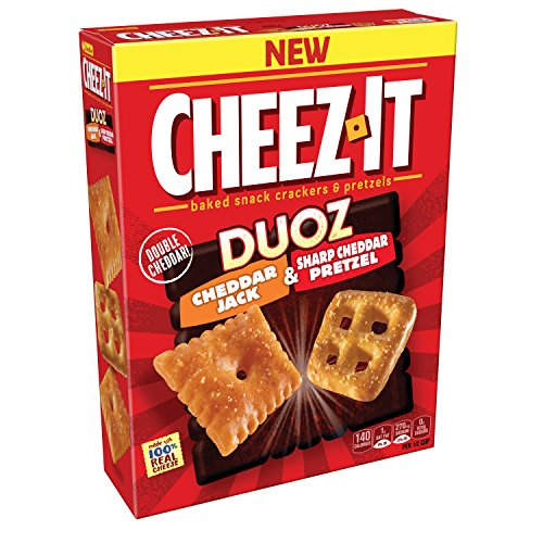 Cheez-It Duoz Pretzel and Cheddar Jack Crackers, 9 Ounce