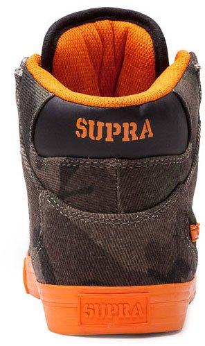 Supra Vaider High Top Skate Shoe - Women's Camouflage/Orange Canvas, 10.0