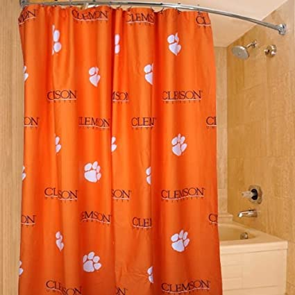 Image Unavailable Not Available For Color College Covers Clemson Tigers Printed Shower Curtain