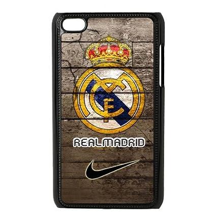 Amazon.com: Cielo azul océano FC Real Madrid logo Caso para ...