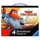 Ravensburger Disney Fire and Rescue Planes 2-4 Puzzles in A Suitcase Box