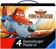 Planes Ravensburger Disney fuego y rescate: Planos 2-4 puzzles en una Caja Maleta